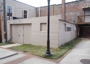 The old Lawrenceviile jail, referred to as the Calaboose, in downtown Lawrenceville.   This is on our list of places to go.